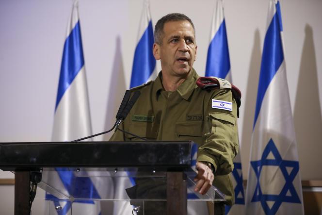 Aviv Kochavi,le chef d'état-major de l'armée israélienne,lors d'une conférence de presse, à Tel Aviv, le 12 novembre 2019.