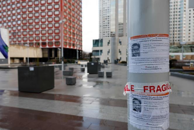 La dalle de Beaugrenelle, dans le 15e arrondissement de Paris, où Yuriy a été passé à tabac, le 15janvier.