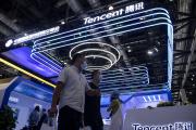 Stand Tencent à Pékin, le 6 septembre 2020.