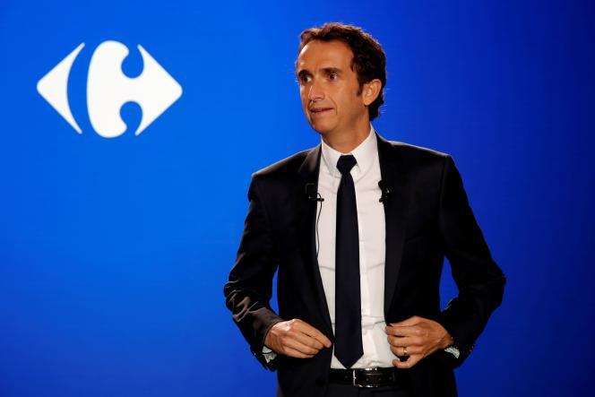 Le PDG de Carrefour, Alexandre Bompard, à la Défense, près de Paris, le 23 janvier 2018.