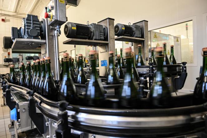 Bottles of Bollinger champagne, in Ay (Marne), December 2, 2020.