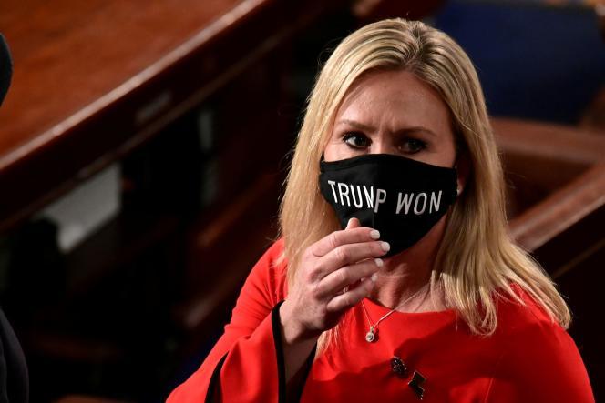 Marjorie Taylor Greenelors de la session de rentrée de la Chambre des représentants à Washington, DC, le 3 janvier.