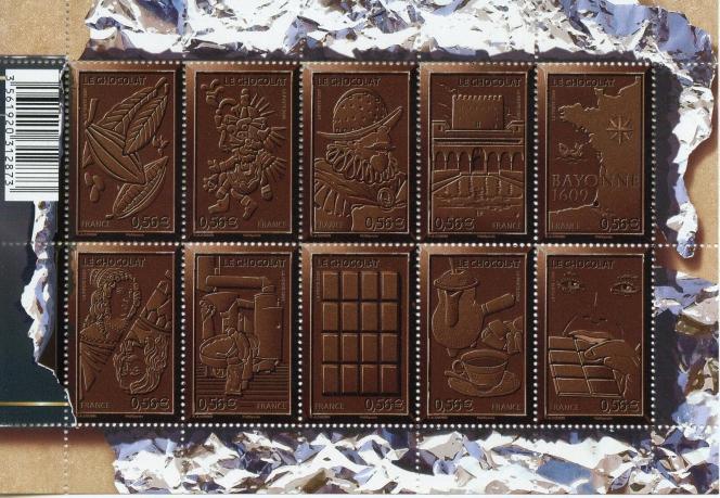 Feuillet de timbres paru en 2009.