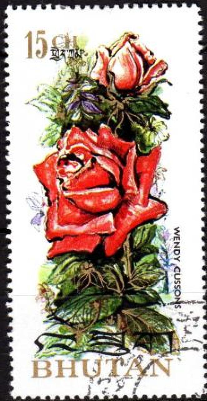 Le premier timbre parfumé, à la rose, a été émis par le Bhoutan en 1973.