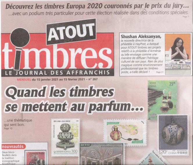 « Atout timbres », 32 pages, 2,50 euros, en vente en kiosques ou par abonnement auprès de l'éditeur Yvert et Tellier.