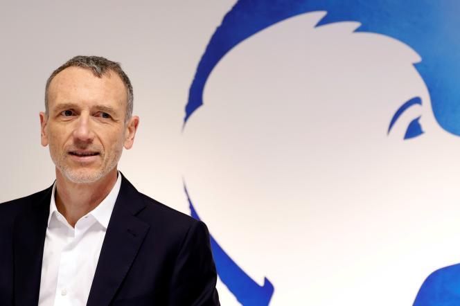 Le PDG de Danone, Emmanuel Faber, à Paris, le 26 février 2020.