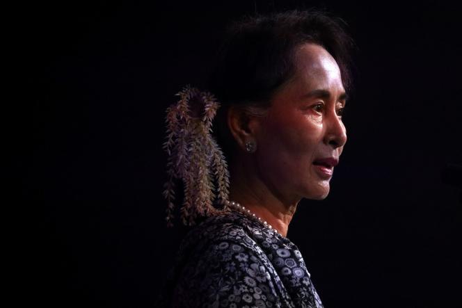 Aung San Suu Kyi, lors d'un sommet à Singapour, en novembre 2018.