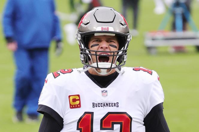 Tom Brady après sa qualification pour le SuperBowl, à GreenBay (Wisconsin), le 24janvier 2021.