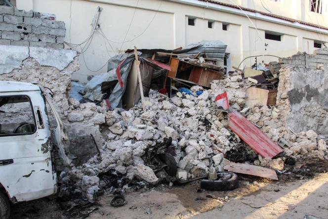 Afrikhotel پس از حمله 31 ژانویه 2021 توسط چهار جهادی از چاباب در موگادیشو ، پایتخت سومالی.
