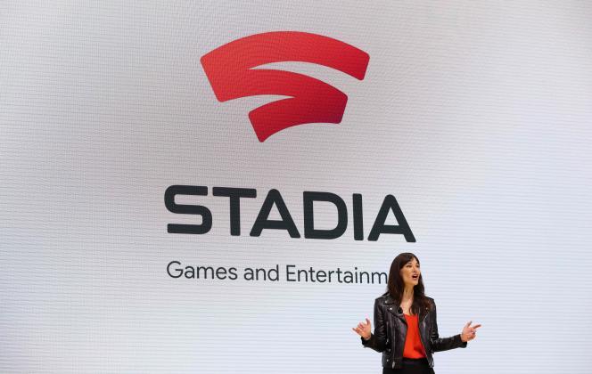 Jade Raymond auf der Spieleentwicklerkonferenz in San Francisco während der offiziellen Ankündigung von Stadia im März 2019.