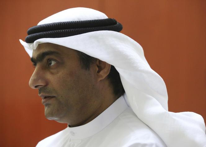 احمد منصور در آژمان ، امارات متحده عربی ، در آگوست 2016.