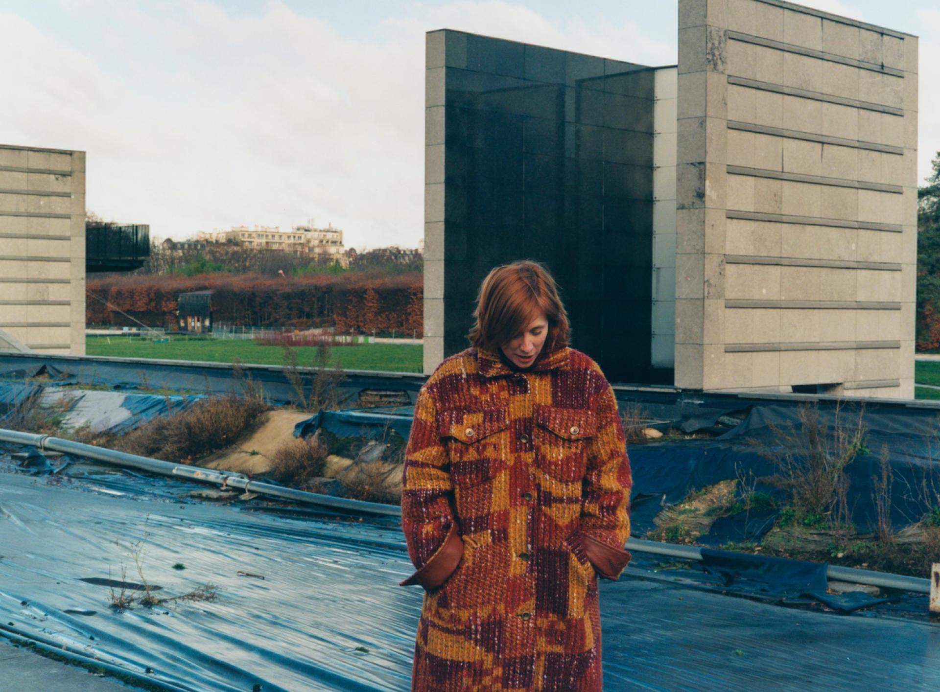 Andréa Bescond, au parc André-Citroën, à Paris, le 25 janvier.