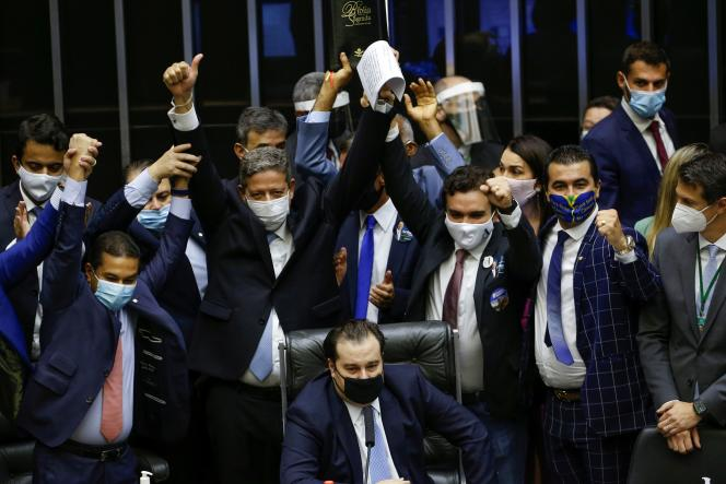 O deputado Arthur Lira, acaba de eleger presidente da Câmara, em Brasília, no dia 1º de fevereiro.