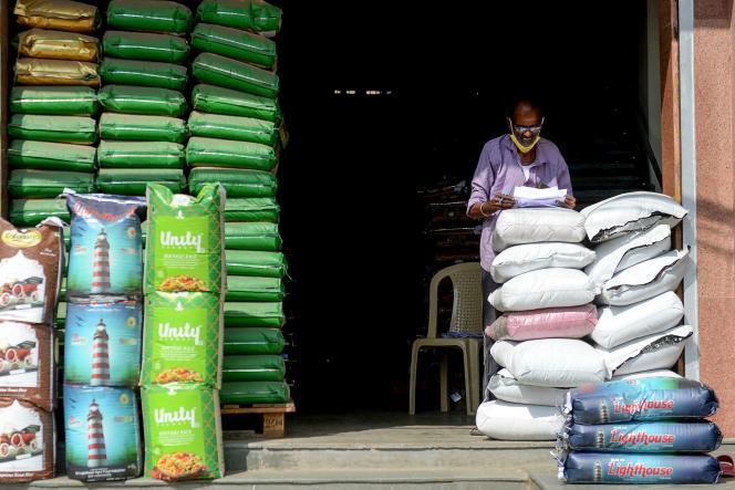 Sur un marché de gros, à Chennai (Tamil Nadu), en Inde, le 1er février 2021.