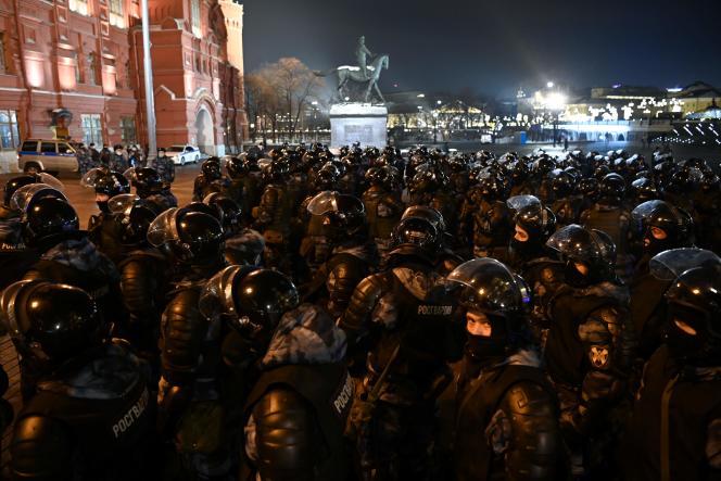 2 de febrero, en la Plaza Roja de Moscú.