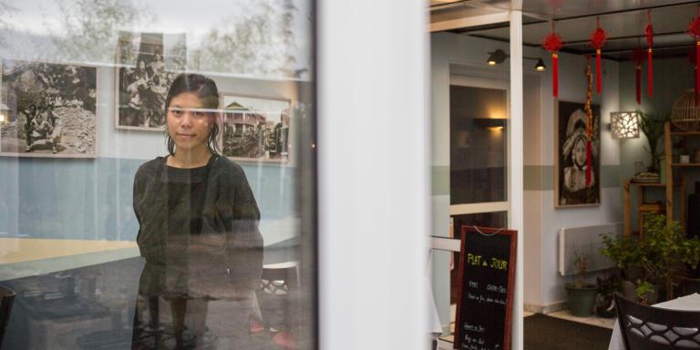 Odile Leng, restauratrice au Shangaï, à Saint-Martin-d'Hères (Isère) le 28-01-21.