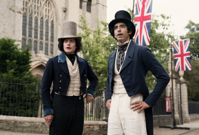 JamesSteerforth(Aneurin Barnard) et David Copperfield (Dev Patel),dans«The Personal History of David Copperfield» (2019), d'Armando Iannucci.