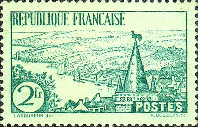 « La Rivière bretonne», timbre de 1935.