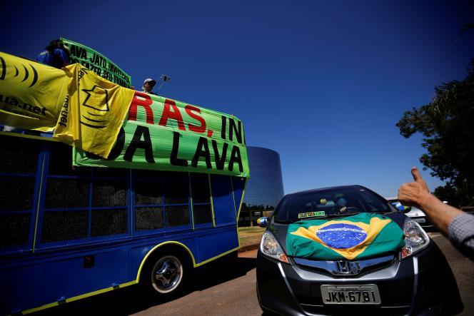 تظاهراتی در حمایت از عملیات Lava Jato ، در برزیل ، 6 سپتامبر 2020