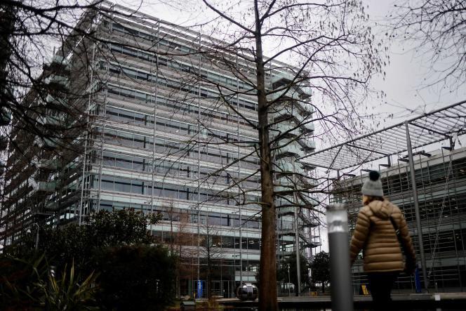 Les bureaux dela chaîne internationale chinoise CGTN (China Global Television Network), à Londres, le 4 février.