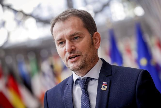 Igor Matovic, le premier ministre slovaque, à Bruxelles, le 15 octobre 2020.