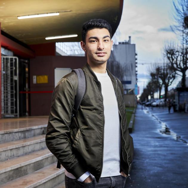 Boran Yildiz, au lycée Langevin-Wallon, à Champigny-sur-Marne (Val-de-Marne), le 3février.