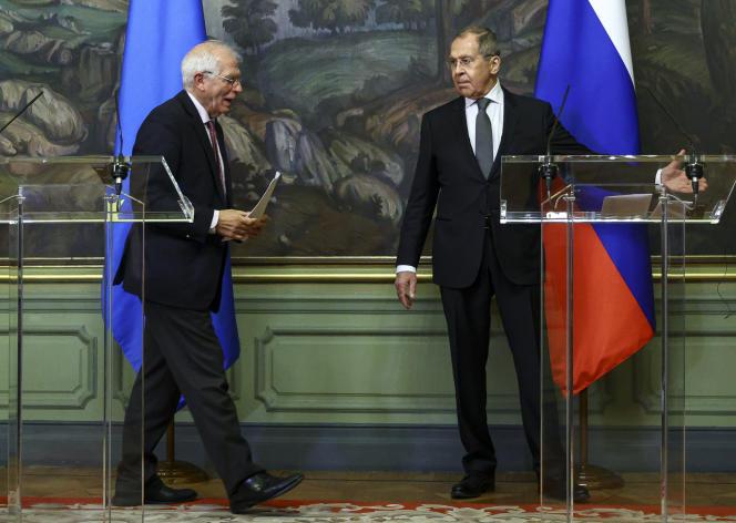 Josep Borrell et Sergueï Lavrov, le 5 février.