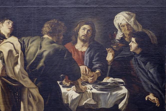 «Les Pèlerins d'Emmaüs», de Rubens (1577-1640), a été réinstallé, apès restauration, dans l'église Saint-Eustache (Paris 1er) à l'automne 2020.