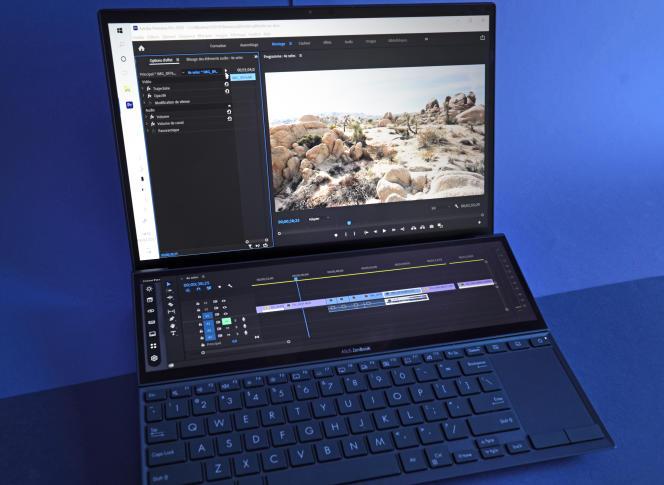 Le petit écran secondaire de l'Asus Zenbook Duo mesure huit centimètres de haut.