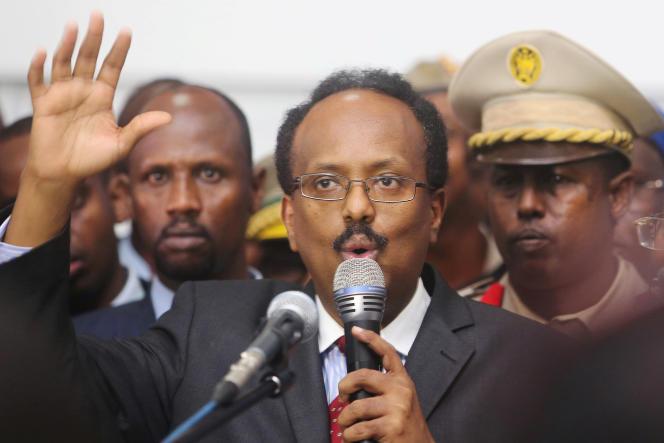 Le président somalien,Mohamed Abdullahi Mohamed, à Mogadiscio, en février 2017.