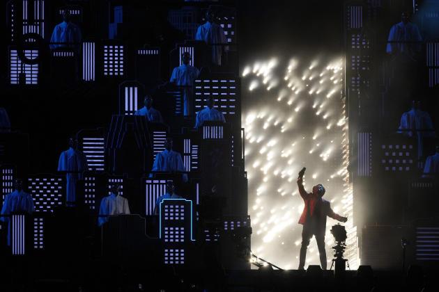 The Weeknd a donné la représentation de la mi-temps.