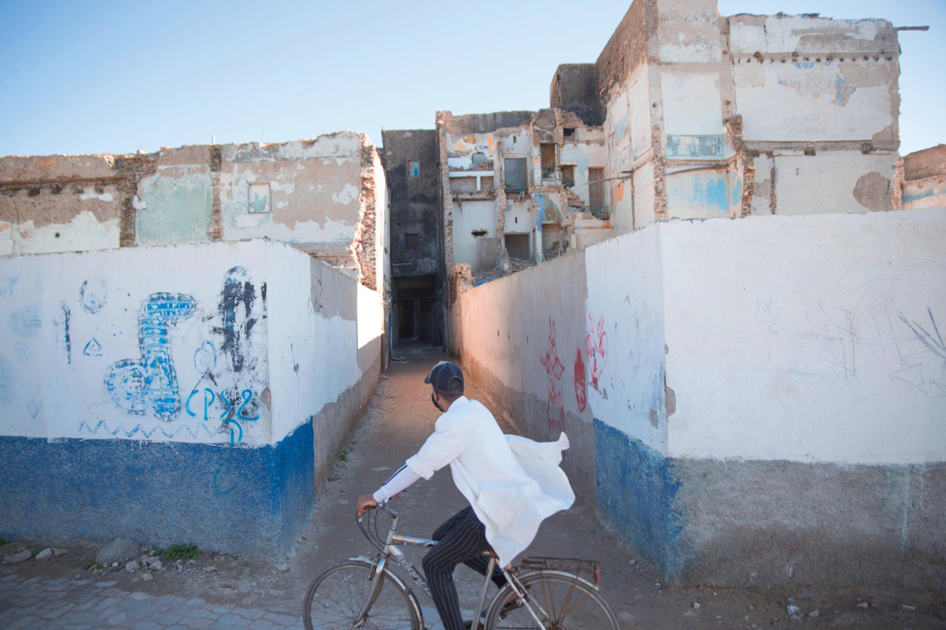 A l'entrée de l'ancien mellah (quartier juif), à Essaouira, l'ancienne Mogador.