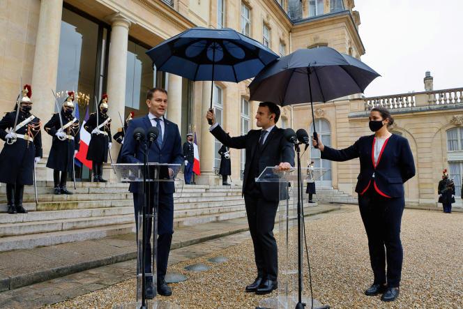 Emmanuel Macron et Igor Matovic, le 3 février, à l'Elysée.