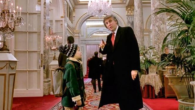 Macaulay Culkin et Donald Trump dans «Maman, j'ai encore raté l'avion », sorti en 1992.