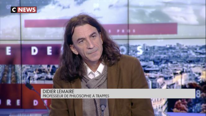 Capture d'écran de l'émission«L'Heure des Pros» sur CNews, diffusée le 8 février, à laquelle Didier Lemaire était invité.