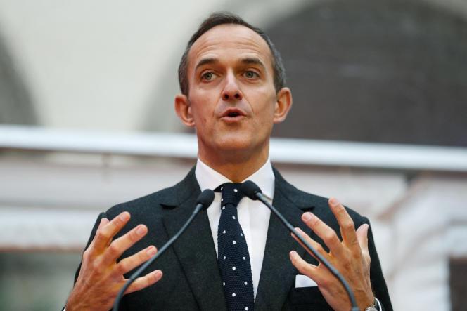 Frédéric Mion, alors directeur de Sciences Po Paris, à l'hôtel de l'artillerie à Paris, en janvier 2018.