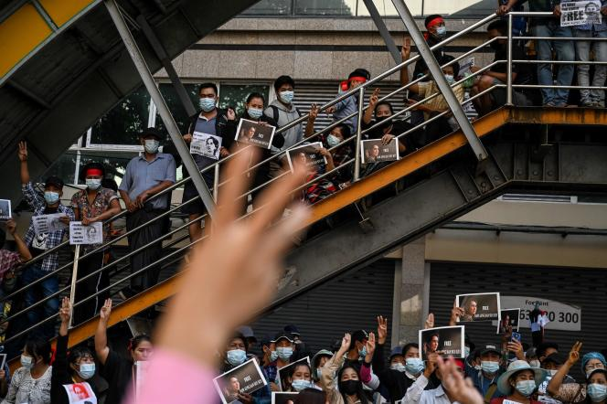 A Rangoun, le 9 février.