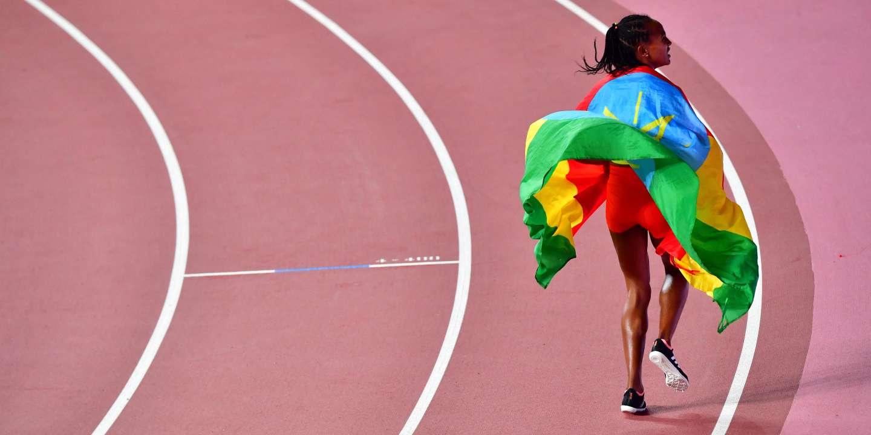 Athlétisme : l'Ethiopienne Gudaf Tsegay bat le record du monde du 1 500 m en salle - Le Monde