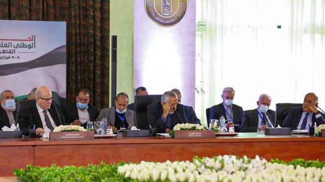 Dialogue national palestinien organisé par le Service général de renseignement égyptien dans la capitale, Le Caire, le 8 février 2021.