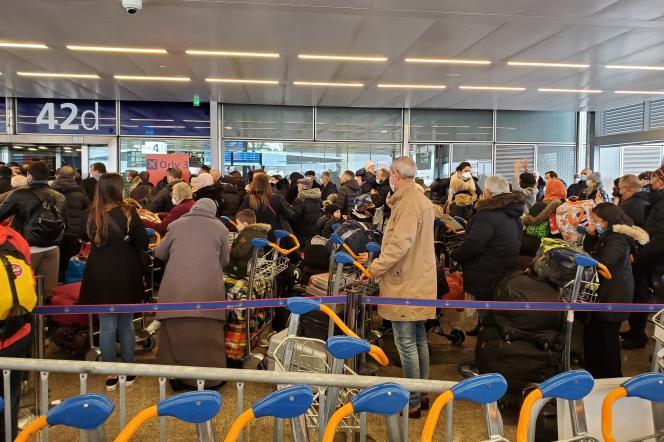A l'aéroport de Paris-Orly, le 28 janvier.