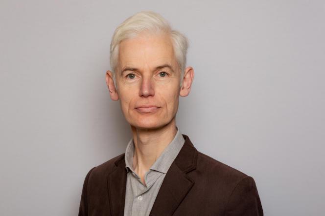 Timothy Gowers, au Collège de France, à Paris, en janvier 2021.