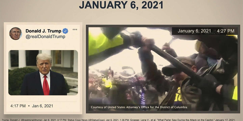 Vidéos chocs et discours enflammés : l'accusation déroule un exposé implacable au procès de Donald Trump - Le Monde