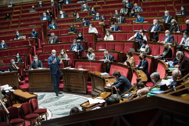 Le ministre de l'éducation nationale Jean-Michel Blanquer, à l'Assemblée nationale, le 11 février.