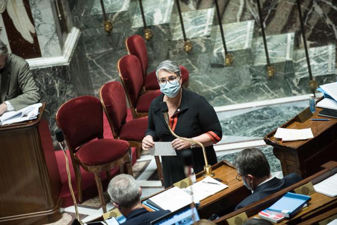 Anne Brugnera àl'Assemblée nationale, le 11 février.