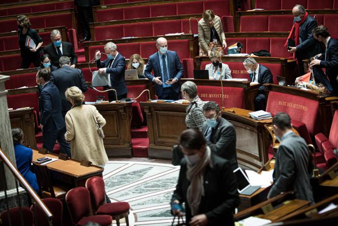 Suspension du débat sur la loi contre le« séparatisme», à l'Assemblée nationale àParis, le 11 février.