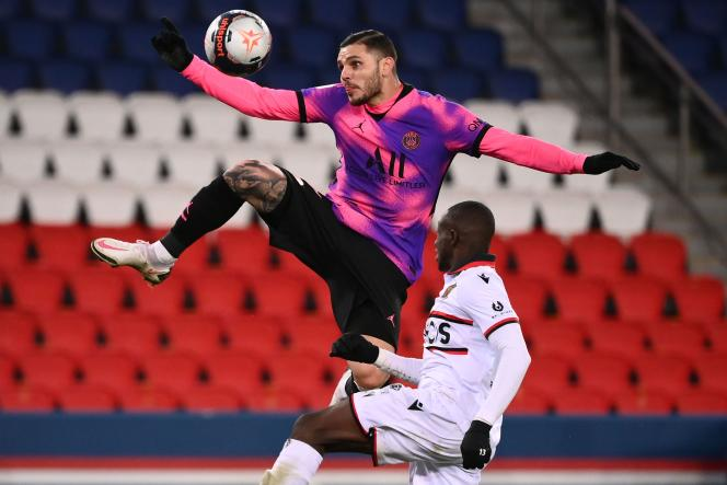L'attaquant argentin Mauro Icardi a délivré la passe décisive sur le second but parisien contre Nice.