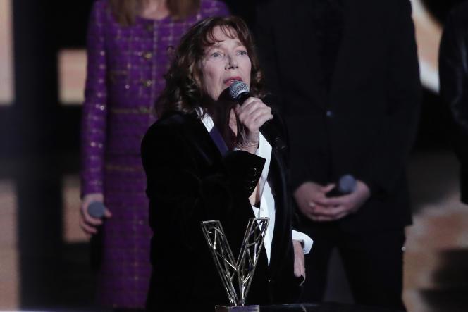 Jane Birkin reçoit sa Victoire d'honneur.