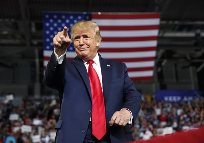 Donald Trump, à la Williams Arena de Greenville, en Caroline du Nord, le17 juillet 2019.Les deux procès de mise en accusation auxquels Trump a dû faire face ont illustré sa capacité à échapper aux conséquences d'actions que même de nombreux républicains ont dénoncées.