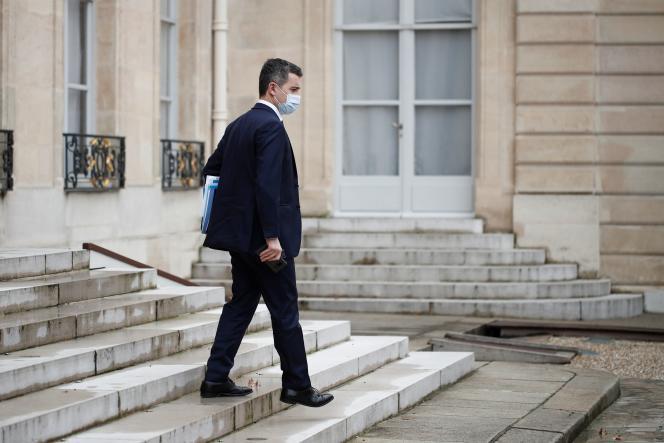 Le ministre de l'intérieur, Gérald Darmanin, le 3 février à l'Elysée.
