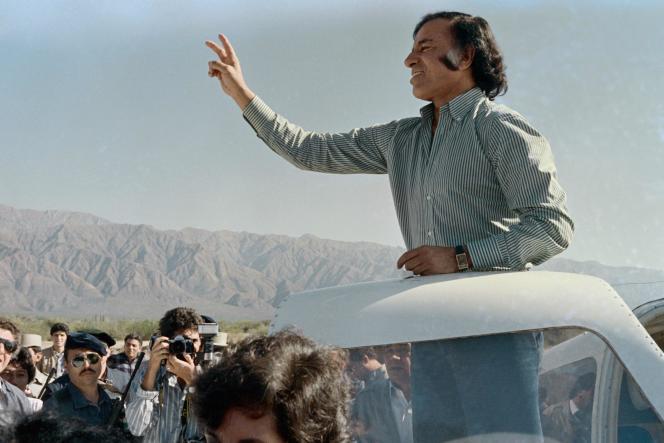 Carlos Menem, alors candidat à la présidentielle de 1989.